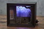 Model Maker Builds Creepy Miniature Scenes Featured Within Shadow Box Dioramas