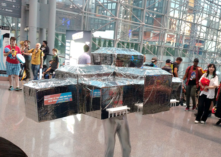 New York Comic Con Attendee Cosplays as the Actual Jacob K. Javits Convention Center