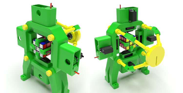 A 3D Printed Raspberry Pi Powered Rubik's Cube Solving Robot