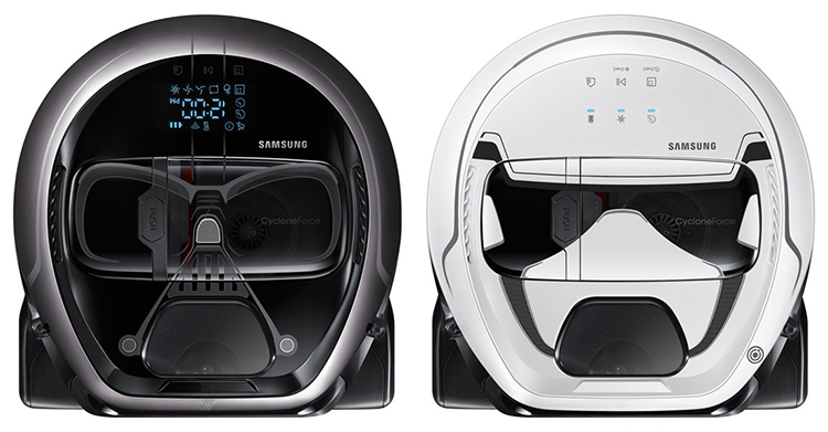 Samsung's Star Wars POWERbot Vacuum Cleaners Look Like Darth Vader and a Stormtrooper
