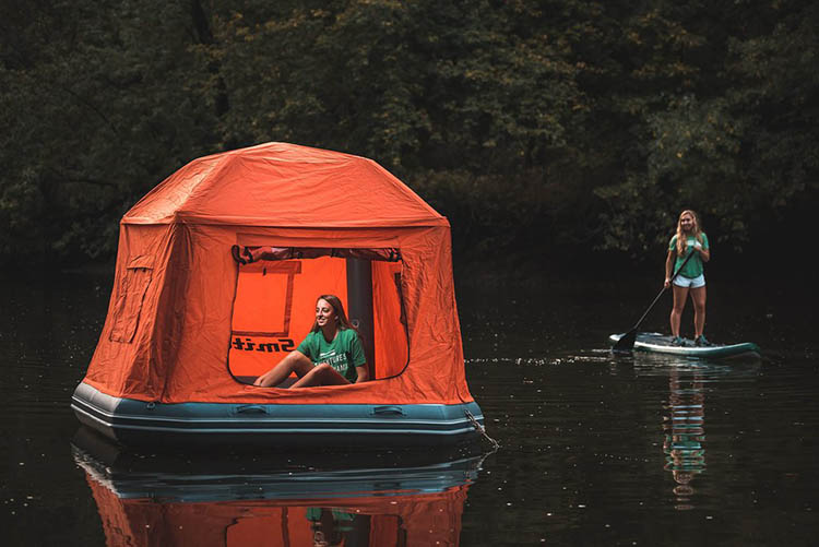 Shoal Tent An Inflatable Raft With a Tent Topper for Sleeping Under the Stars While on the Water & Shoal Tent An Inflatable Raft With a Tent Topper for Sleeping ...