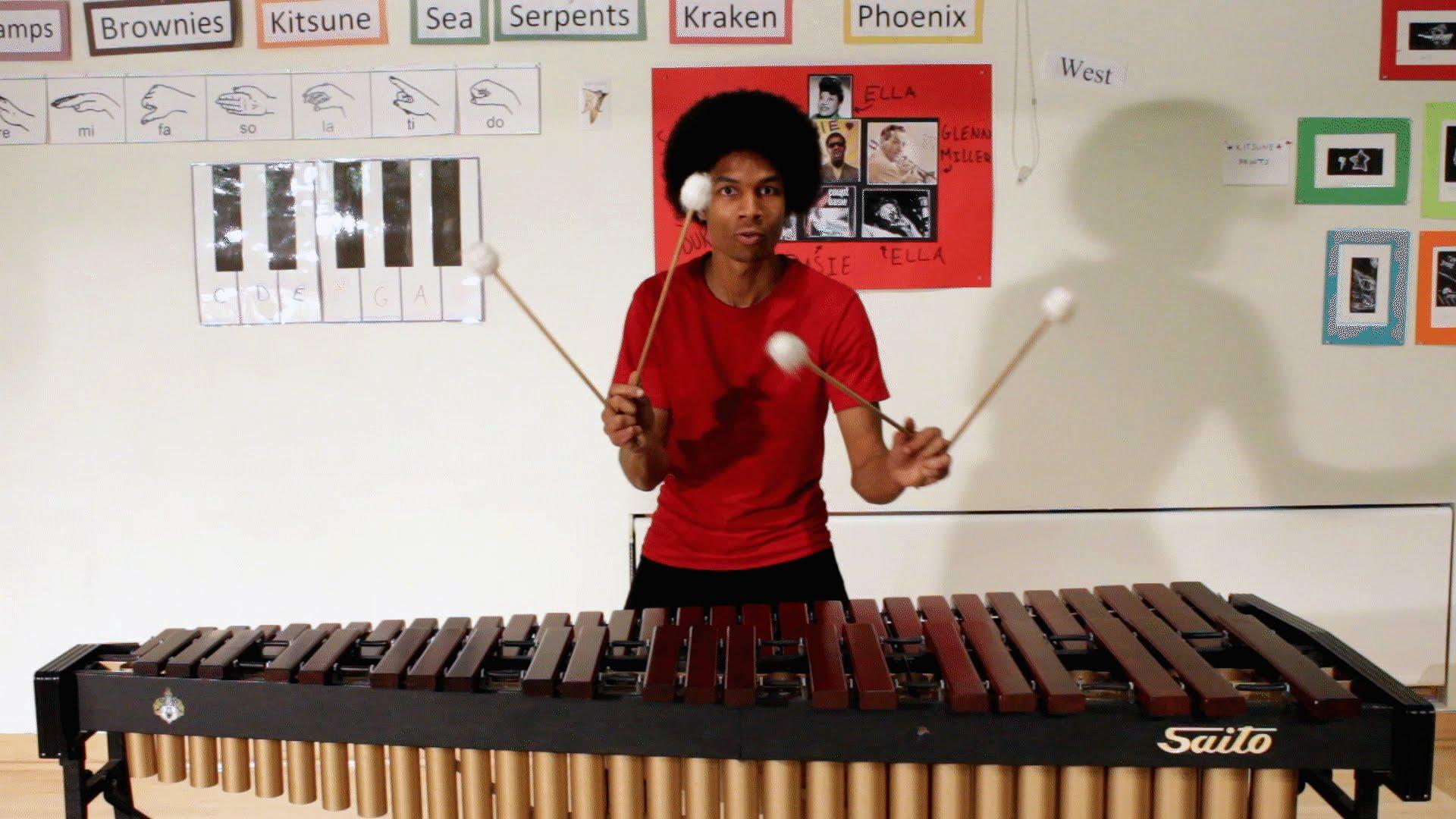 Super Mario Bros. Theme Songs Played on a Marimba