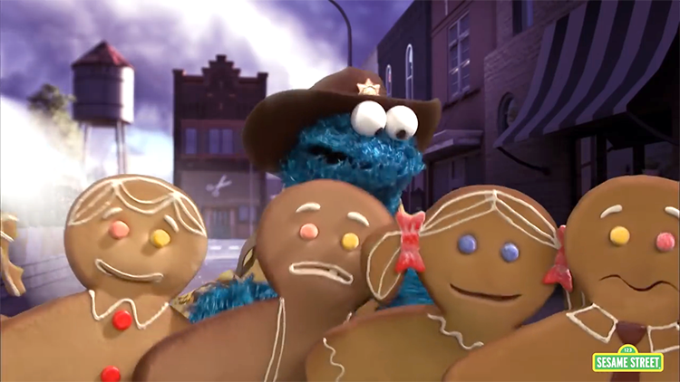 The Walking Gingerbread, A Sesame Street Parody of The Walking Dead Featuring Cookie Monster