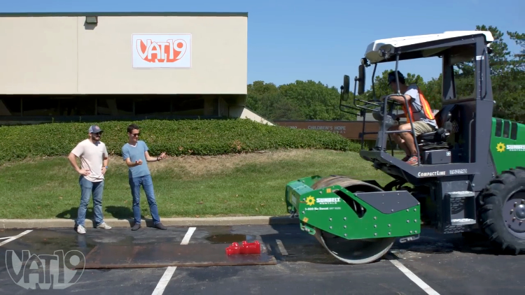 Vat19 Drives Over a Bunch of Their Products With a Steamroller to See What Survives
