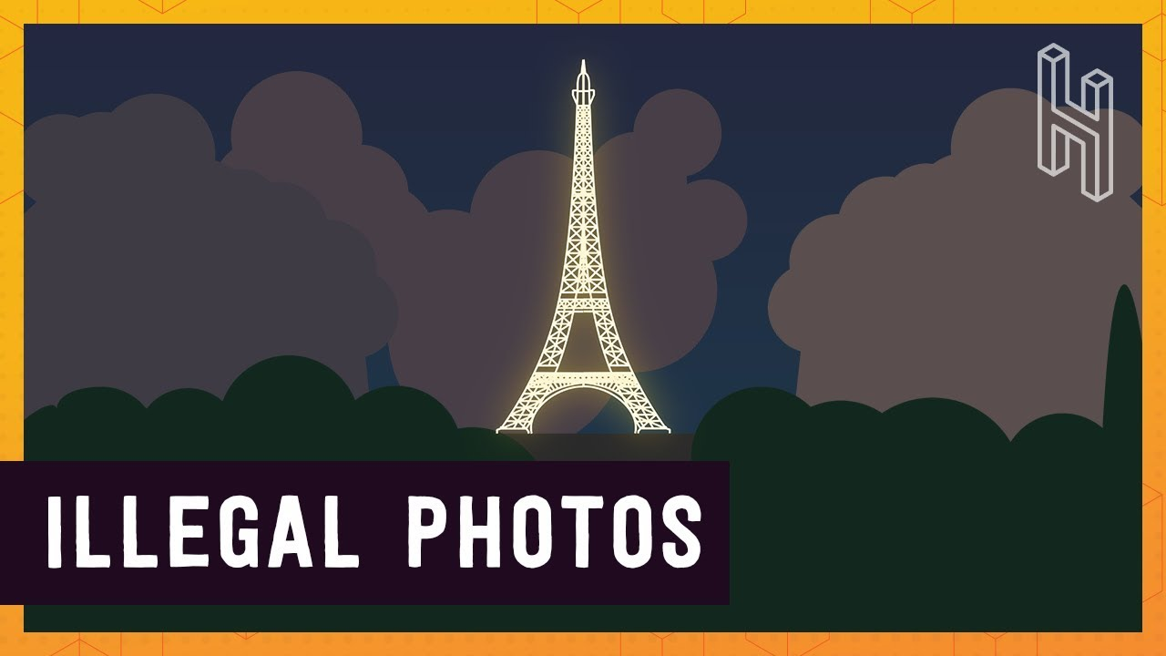 why french copyright law allows the eiffel tower to be photographed during the day but not at night. Black Bedroom Furniture Sets. Home Design Ideas