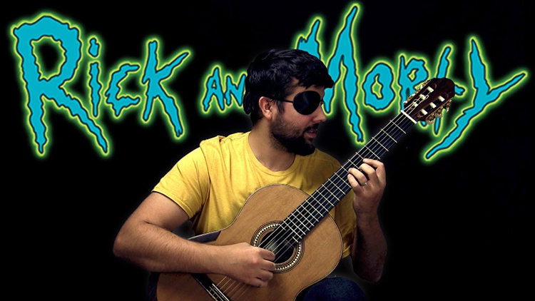 A Classical Guitar Cover of the Evil Morty Theme Song 'For the Damaged Coda' by Blonde Redhead