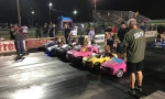 A Group of Speedy Kids Drag Race Their Power Wheels Vehicles in Orlando, Florida