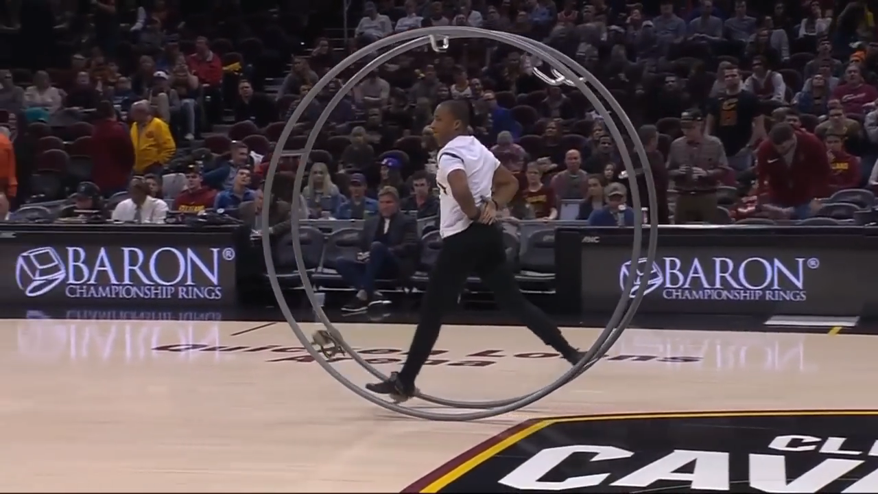 Amazing German Wheel Gymnastics Performance During Halftime of Cleveland Cavaliers Game