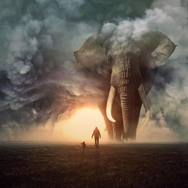Artist Imagines a Beautiful World Where Giant Animals ...