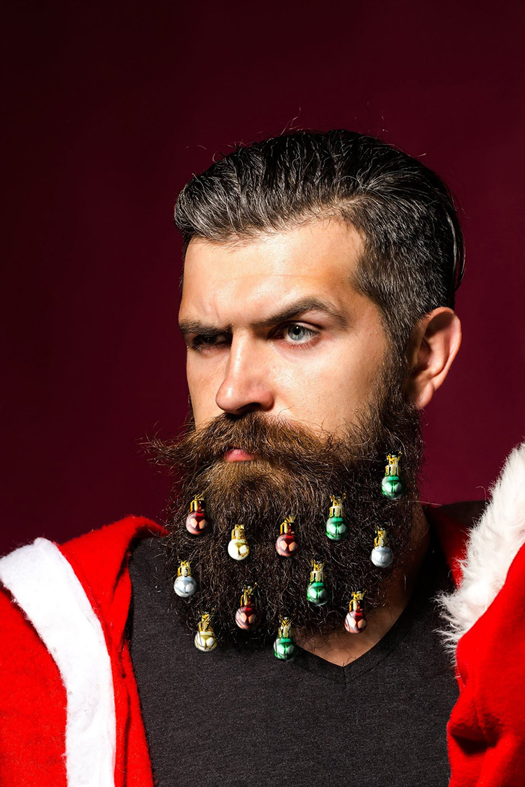 Beardaments, Small Christmas Ornaments That Men Can Attach to Their Beards
