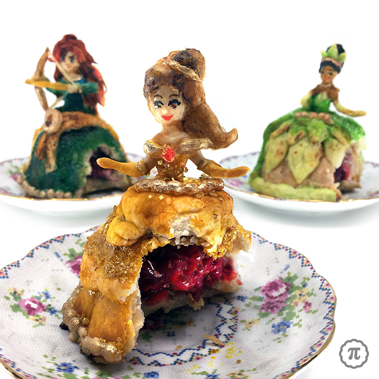 Beautiful Hand Pies Decorated to Look Like Disney Princesses