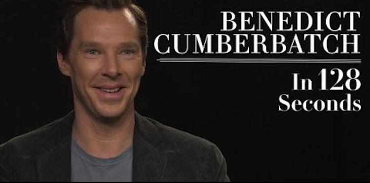 Benedict Cumberbatch in 128 Seconds