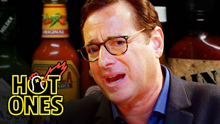 Bob Saget Shares Full House Secrets and Hiccups While Eating Progressively Spicy Wings