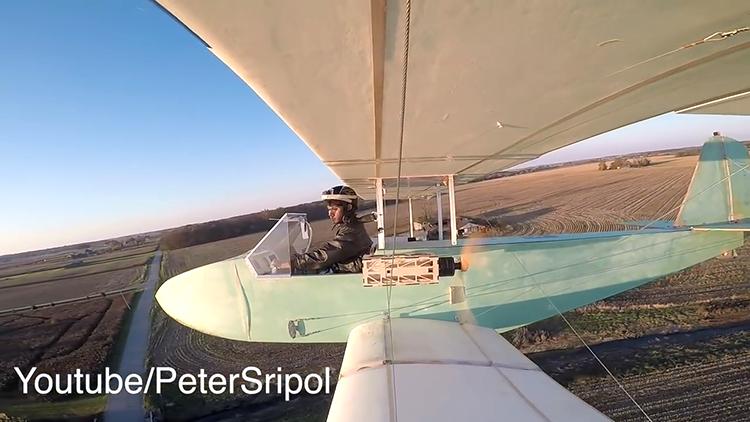 Model Airplane Designer Builds Homemade Electric Ultralight