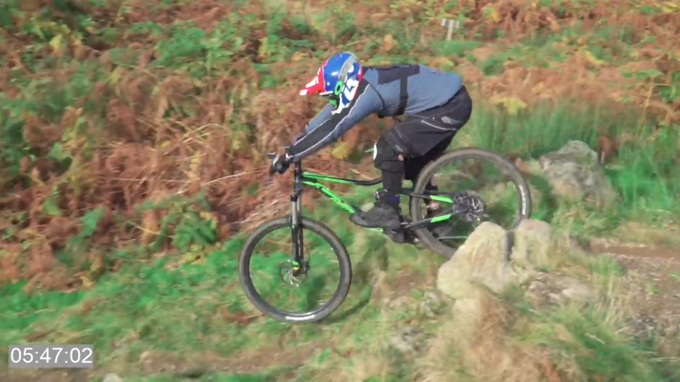 Determined Man Learns to Ride a Downhill Bike Faster Than Ever Before