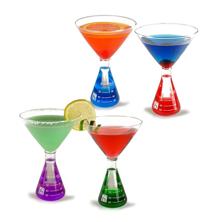 Flask Martini Set