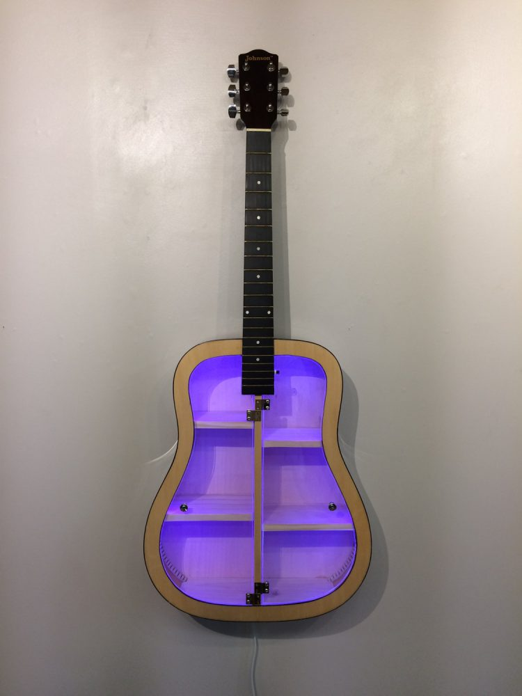 Guitar Shelf LED Clear Doors
