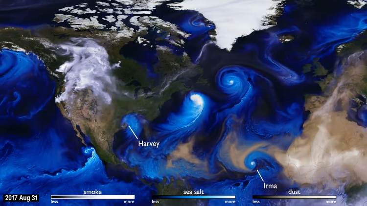 How NASA Meteorologists Use Dust, Smoke and Salt Particles to Track Ocean Storm Movement