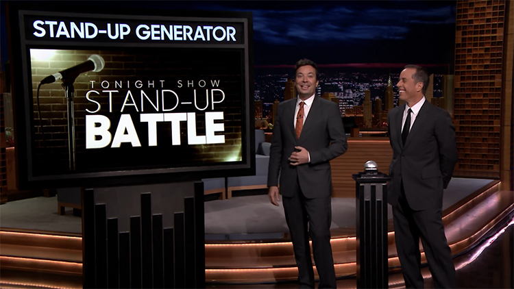 Jerry Seinfeld and Jimmy Fallon Face Off in a Stand-Up Battle to See Who Is the Better Seinfeld