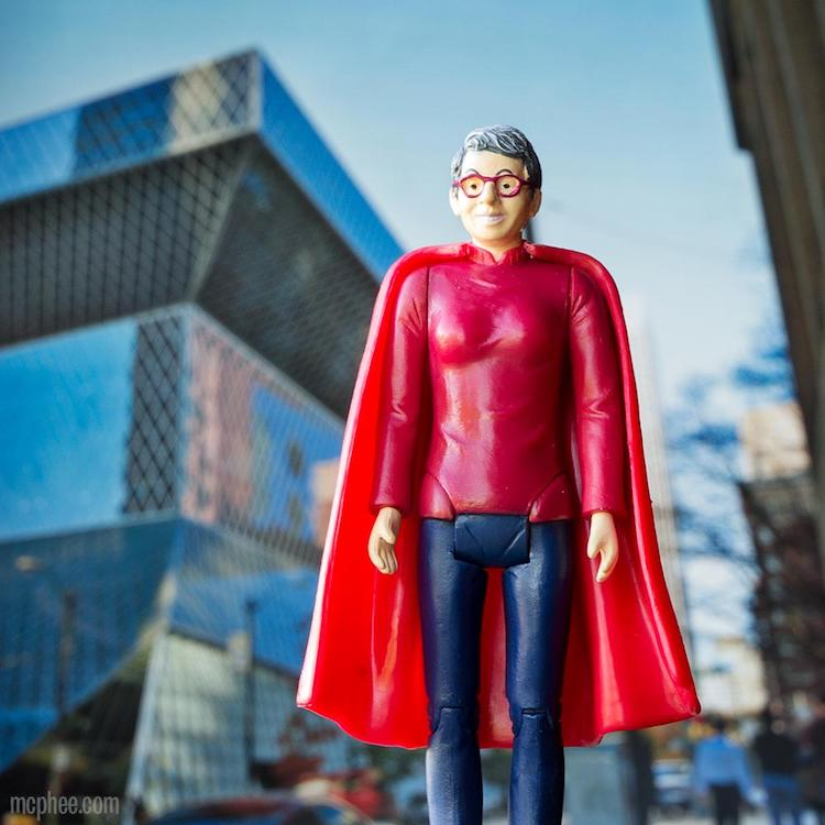 Librarian Action Figure Cape