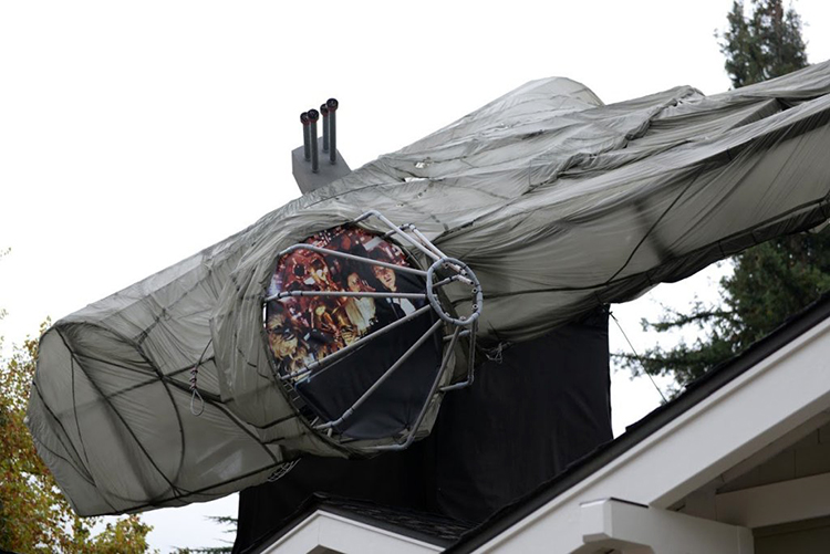 Millennium Falcon on Roof