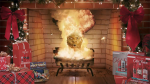 Old Spice's Yule Log Continuously Explodes in the Fireplace for an Hour