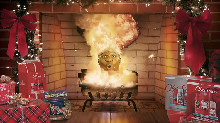 Old Spice Releases Yule Log That Continuously Explodes Inside of a Fireplace for One Hour