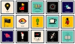 Pictogram Vinyl Posters