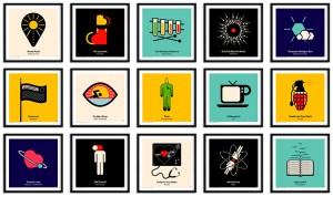 Pictogram Vinyl Posters