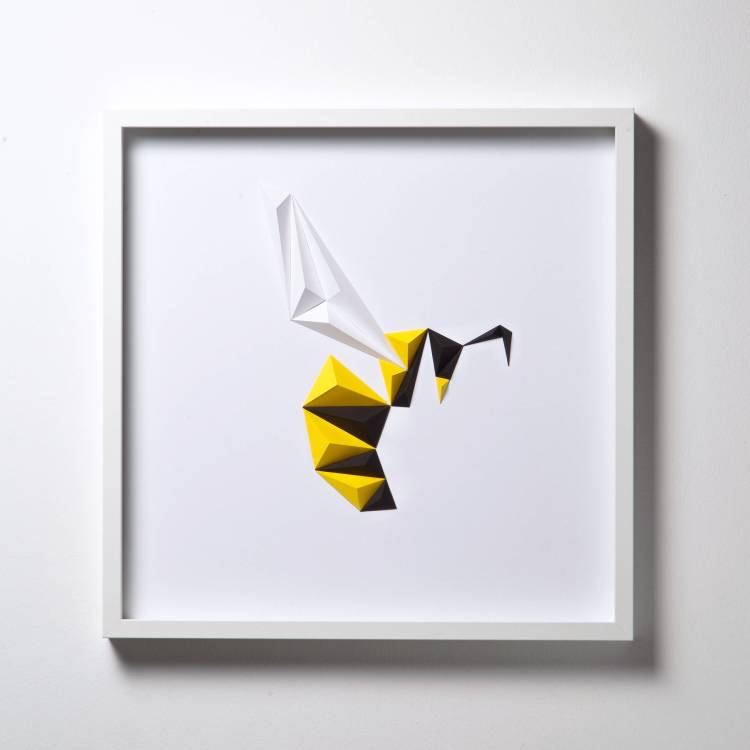 Gorgeous Framed Animal Insect And Bird Designs Made Out Of Cleverly