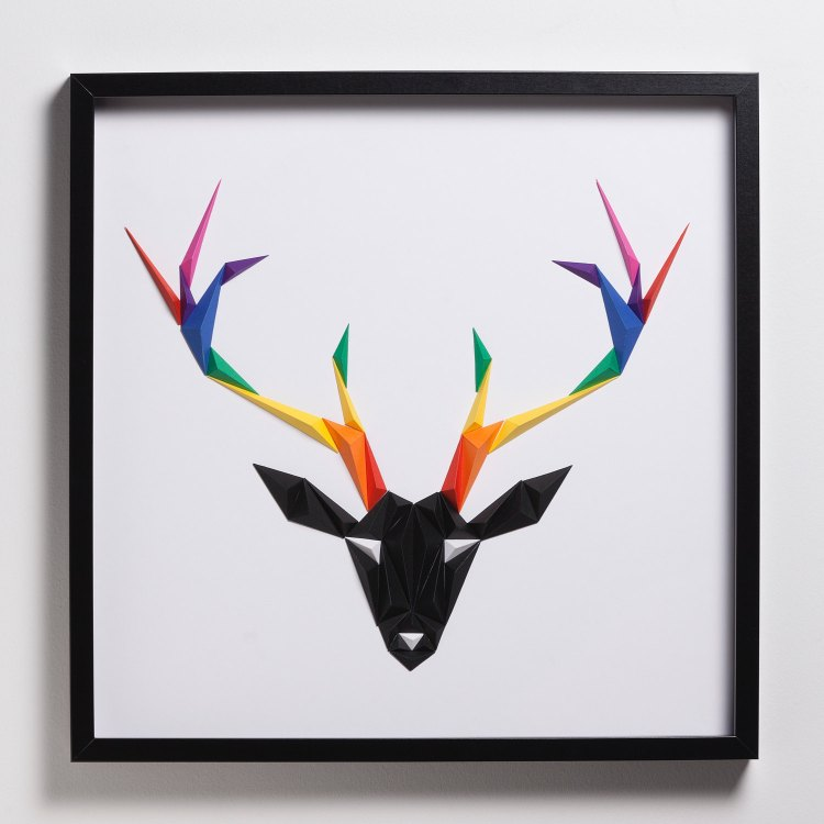 Gorgeous Framed Animal, Insect and Bird Designs Made Out of Cleverly Folded Colorful Paper