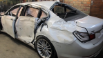 Russian Auto Body Mechanic Brings a Totaled BMW 7 Series Car Back to Life