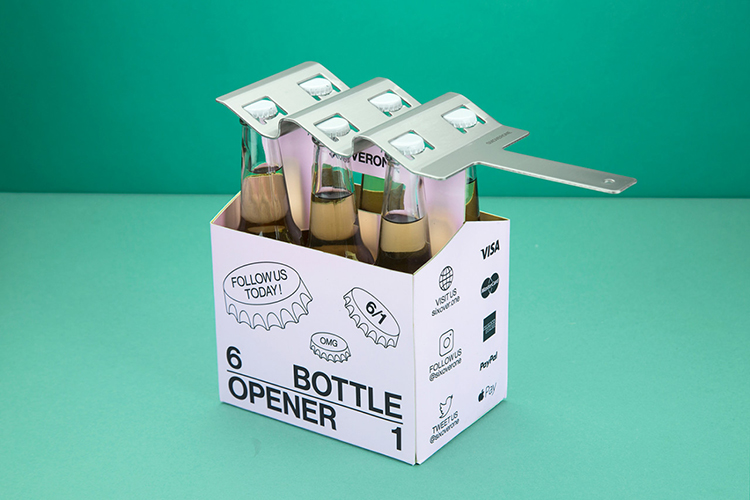 SIXOVERONE, A Bottle Opener That Can Open Up to Six Beverages at Once