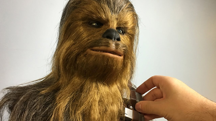 Timelapse of an Artist Sculpting a Detailed Bust of Chewbacca From Star Wars