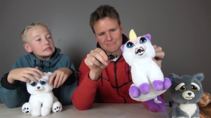 What's Inside a Face Changing Feisty Pets Unicorn