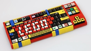 A Functioning Mechanical Keyboard Built Out of LEGO