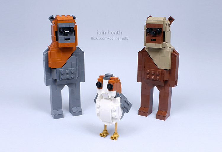 A Porg From Star Wars The Last Jedi Recreated Using LEGO