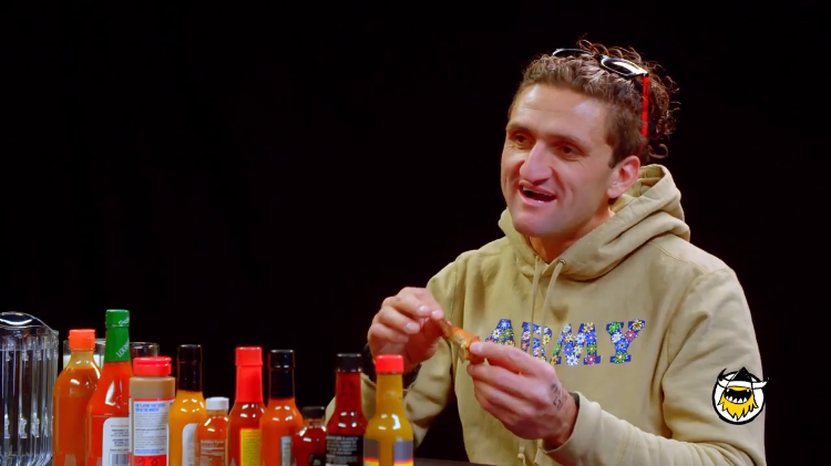 Casey Neistat Talks About Making the Most of Life While Eating Progressively Spicy Chicken Wings