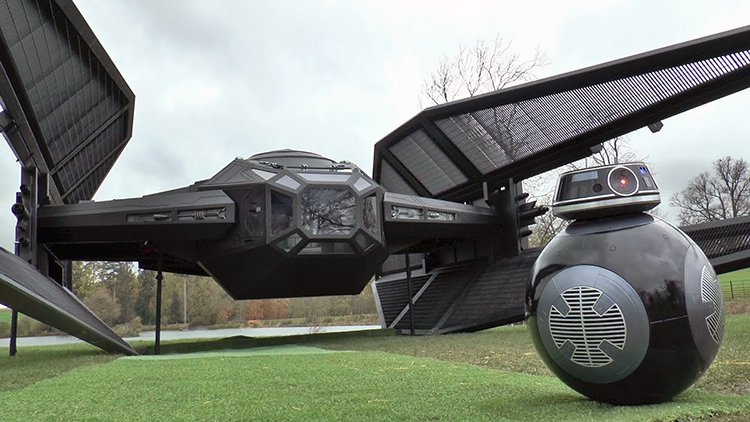 Colin Furze Builds a Life-Size Model of Kylo Ren's TIE Silencer Spacecraft From Star Wars
