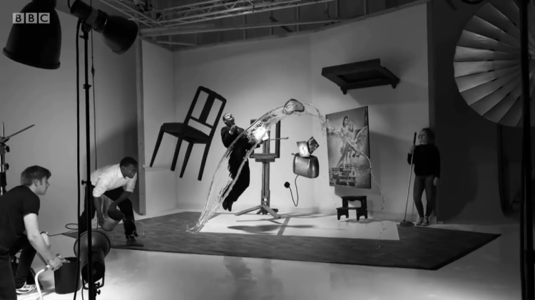 Photographer Karl Taylor Recreates the Iconic 1948 Photo 'Dali Atomicus' by Philippe Halsman
