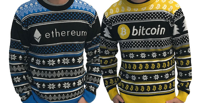 Cryptocurrency Themed Ugly Christmas Sweaters