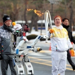 HUBO the Humanoid Robot Carried the Olympic Torch in Daejeon, South Korea