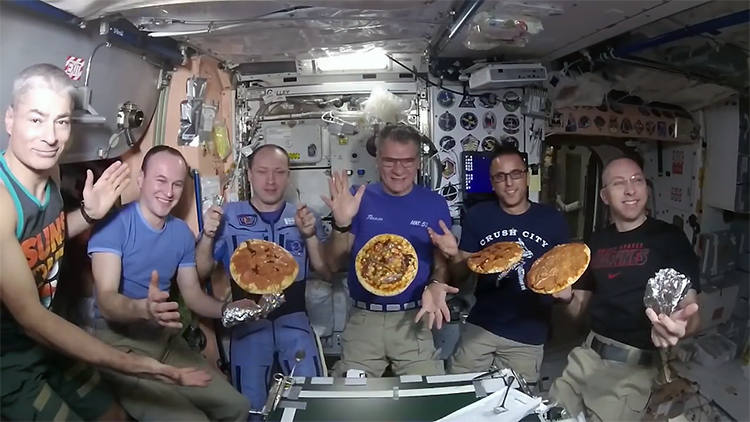 Astronauts Making Pizza in Zero Gravity on Board the ...