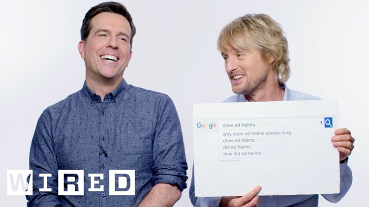 Owen Wilson and Ed Helms Answer the Web's Most Searched Questions About Themselves