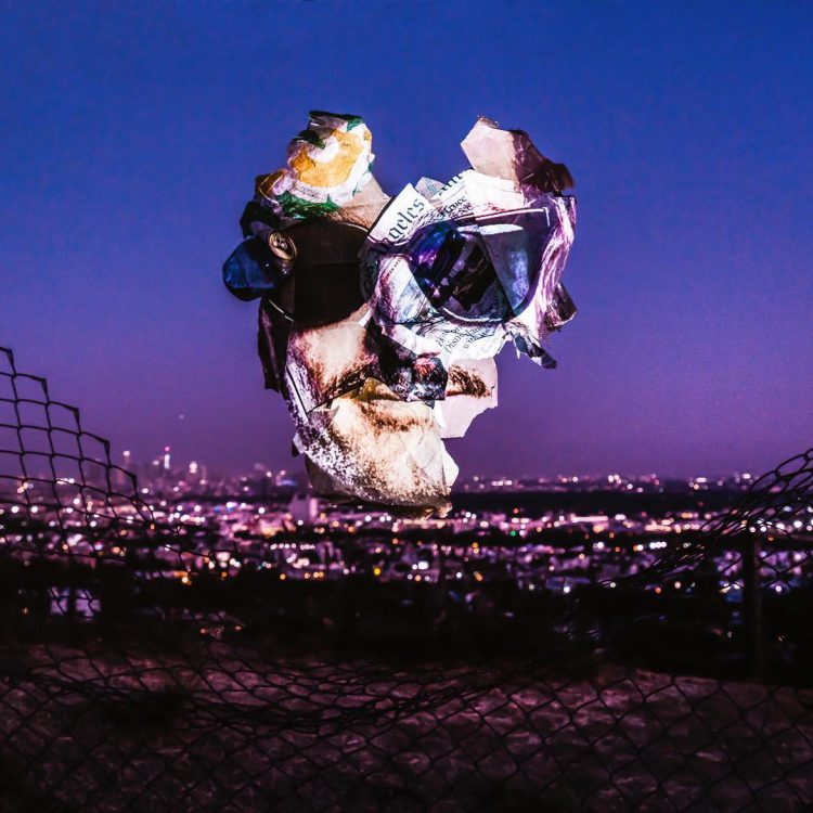 After the Dream, French Photographer Projects Faces Onto Trash He Found on Los Angeles Streets