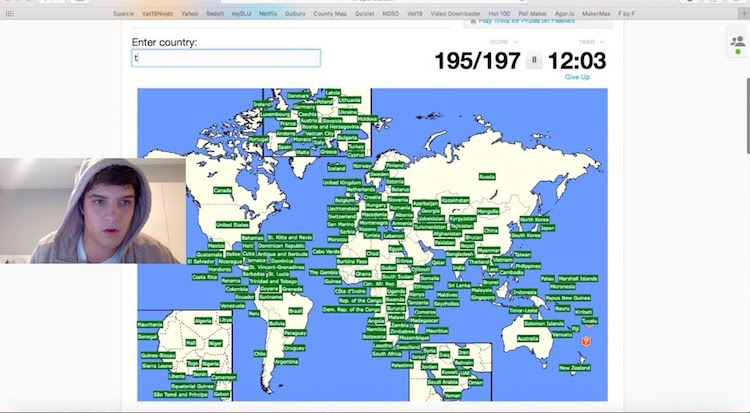 Avid sporcle trivia game player types every single country in the avid sporcle trivia game player types every single country in the world in less than three minutes gumiabroncs Images