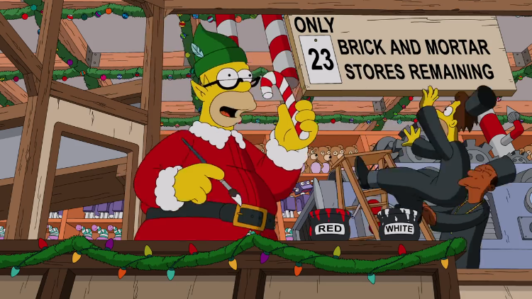 The City of Springfield Celebrates Christmas in the Latest Simpsons Couch Gag Opening