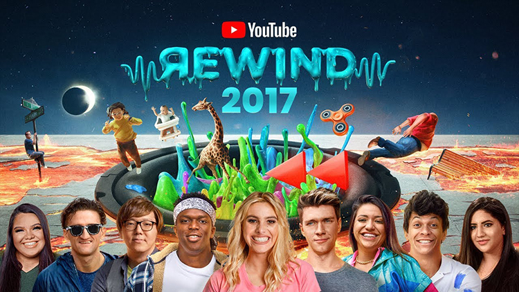 The Shape of 2017, A Celebratory YouTube Rewind Featuring Popular Trends and Memes From 2017