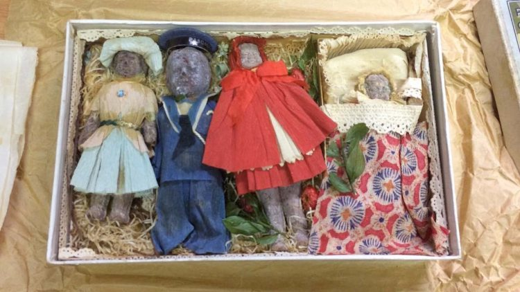 What an Undisturbed Box of Novelty Holiday Chocolates Looks Like After 100 Years