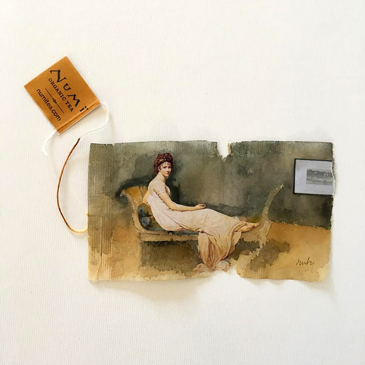 Artist Creates Beautiful Mini Paintings On the Thin Paper of Used Tea Bags in '363 Days of Tea'